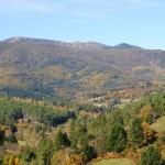 Le village de Ponteils et le Mont Lozère